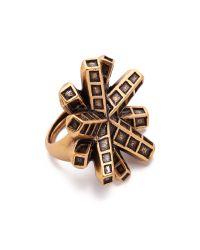 Oscar de la Renta - Metallic Anemone Ring - Russian Gold - Lyst