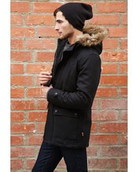 Forever 21 - Black Bellfield Wool-blend Parka for Men - Lyst