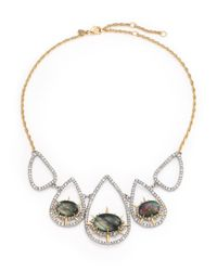 Alexis Bittar - Metallic Elements Shadow Star Black Mother-of-pearl & Crystal Pendant Necklace - Lyst