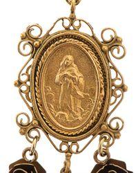 Dolce & Gabbana - Metallic Heritage Madonna Earrings - Lyst
