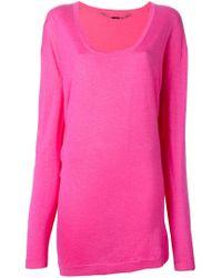 Barbara Bui - Pink Scoop Neck Sweater - Lyst