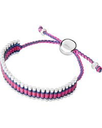 Links of London | Purple Friendship Bracelet Navy And Fuchsia | Lyst