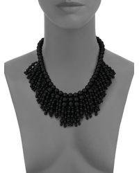 Kate Spade   Black Fringe Appeal Necklace   Lyst