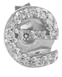KC Designs | Metallic White Gold Diamond E Single Stud Earring | Lyst