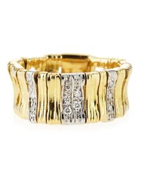 Roberto Coin | Metallic 18k Elephantina Flexible Diamond Ring Yellow Gold Size 65 | Lyst