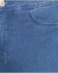 Zara | Blue High Waist Stretch Jeggings | Lyst