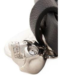 Alexander McQueen | Black Double Wrap Skull Bracelet for Men | Lyst