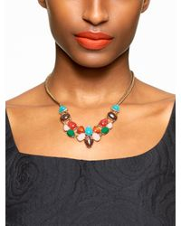 Kate Spade | Multicolor Fine Art Charm Small Necklace | Lyst
