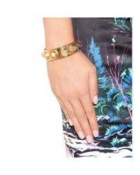 Balenciaga | Giant Stud Metallic Cuff | Lyst