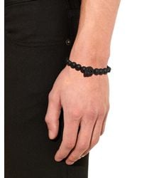 Alexander McQueen - Black Resin Skull And Bead Bracelet for Men - Lyst