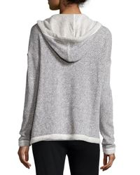 Eileen Fisher - Gray Twisted Terry Box Sweater - Lyst