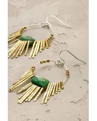 Anthropologie - Green Jade Burst Earrings - Lyst