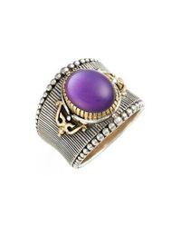 Konstantino | Purple 'erato' Oval Stone Ring | Lyst