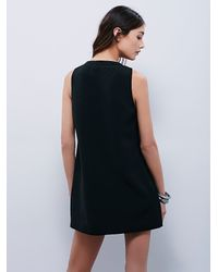 Free People | Black Oasis Shift Dress | Lyst