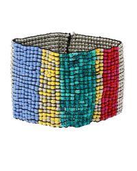 Kenneth Cole | Multicolor Beaded Cuff Bracelet | Lyst