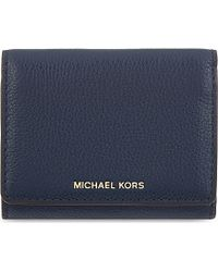98caa933d699 MICHAEL Michael Kors Liane Small Grained Leather Wallet in Blue for ...
