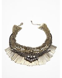 Free People | Metallic Royal Mesh Collar | Lyst