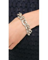 Eddie Borgo | Metallic Pave Link Chain Bracelet - Silver | Lyst