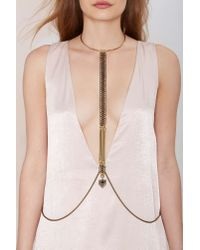 Nasty Gal | Metallic Biko Tabea Body Chain | Lyst