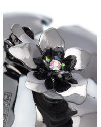 Rosie Assoulin - Black Oversized Flower Earrings - Lyst