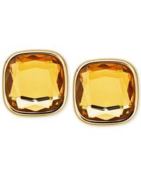 Michael Kors | Yellow Crystal Stud Earrings | Lyst
