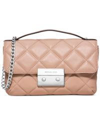 Michael Kors | Pink Michael Sloan Small Quilted Messenger Bag | Lyst