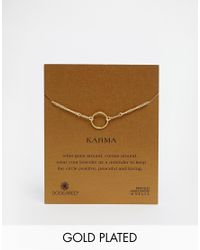 Dogeared | Metallic Gold Plated Original Karma Bracelet | Lyst