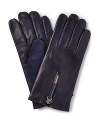 Want Les Essentiels De La Vie | Blue Mozart Cashmere-Lined Leather And Suede Gloves for Men | Lyst