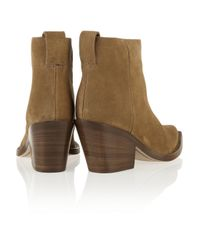 Acne Studios | Brown Donna Suede Ankle Boots | Lyst
