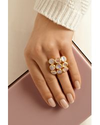 Pippa Small - Metallic 18-Karat Gold Rainbow Moonstone Ring - Lyst