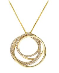 Effy | Metallic Doro 14k Yellow Gold Diamond Pendant Necklace | Lyst