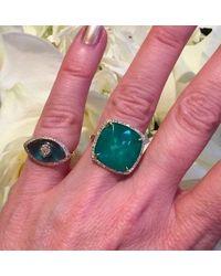 Anne Sisteron - 14kt Rose Gold Diamond Blue Topaz Evil Eye Ring - Lyst