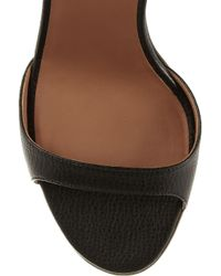 Givenchy - Black Textured leather Sandals - Lyst