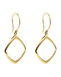 Dinny Hall - Metallic 22ct Gold Plated Sterling Silver Cushion Drop Earrings - Lyst