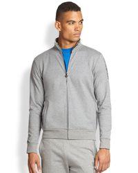 Emporio Armani - Gray Logo Full-Zip Jacket for Men - Lyst