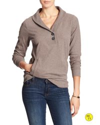 Banana Republic | Brown Factory Shawl-collar Pullover | Lyst