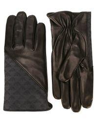 Emporio Armani - Black Logo Panel Gloves for Men - Lyst
