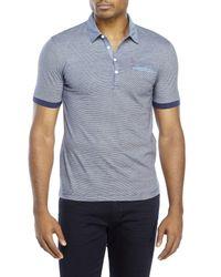 Original Penguin | Blue Heritage Slim Fit Stripe Polo for Men | Lyst