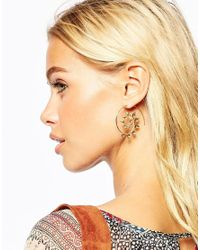 ASOS - Metallic Vine Through Earrings - Lyst