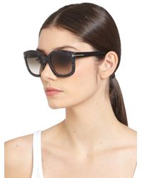 Tom Ford | Black Christophe 53Mm Oversized Square Sunglasses | Lyst