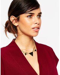 ASOS | Black Triangle Necklace | Lyst