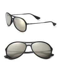 Ray-Ban | Metallic Pilot 59mm Mirrored Sunglasses for Men | Lyst