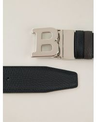 Bally - Black B Buckle Belt for Men - Lyst