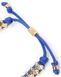 Juicy Couture | Blue Rhinestone Friendship Bracelet | Lyst