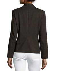 Lafayette 148 New York - Black Flip-collar One-button Jacket - Lyst