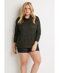 Forever 21 | Green Plus Size Drop-sleeved Turtleneck Sweater | Lyst