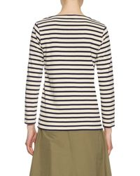 Orcival - Natural Breton-Striped Cotton Top - Lyst