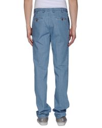 Barbour - Blue Denim Trousers for Men - Lyst