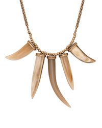Lucky Brand | Metallic Red And Natural Horn Necklace | Lyst