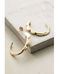 Sarah Magid | Metallic Sparked Cog Hoops | Lyst
